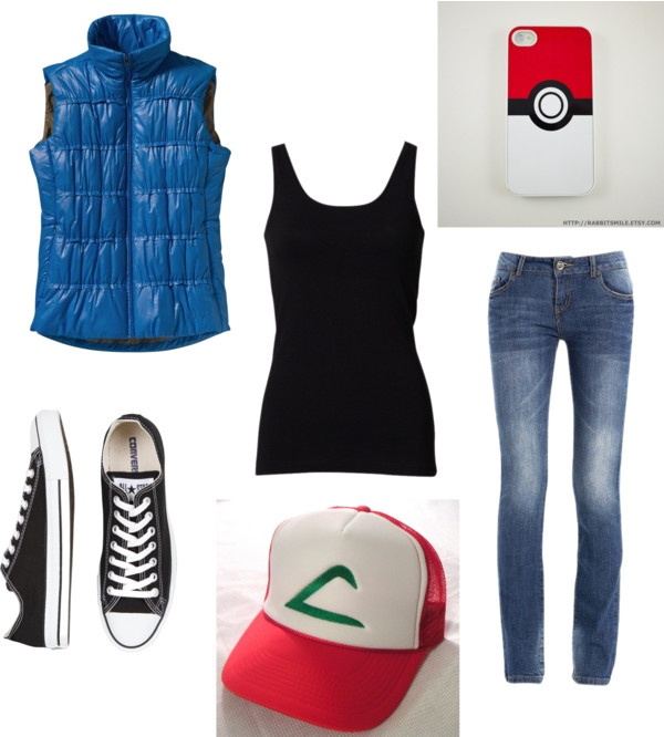 """""""Halloween Costume - Ash Ketchum"""" by emma-lee97 on Polyvore"""