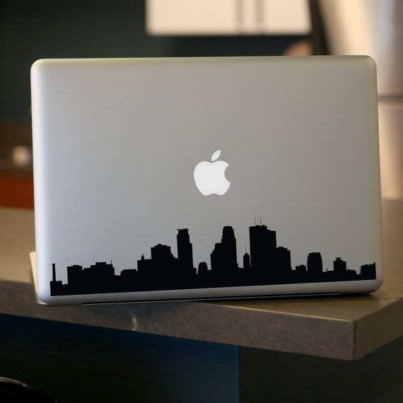 Minneapolis skyline decal for car windows laptops walls etc