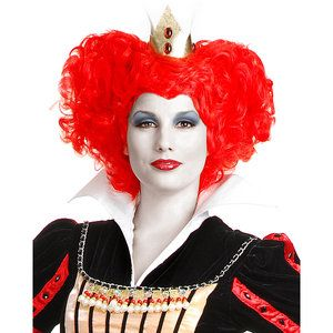 WMU 1447875 Red Queen Wig - Adult Red One-Size  - Case Pack of  6