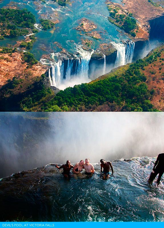 The world's most amazing pools:  Devil's Pool. I WILL go here. Soon. Very soon.