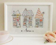 Haus Zeichnung / Housewarming Geschenk / A4 von homemadeMillesime