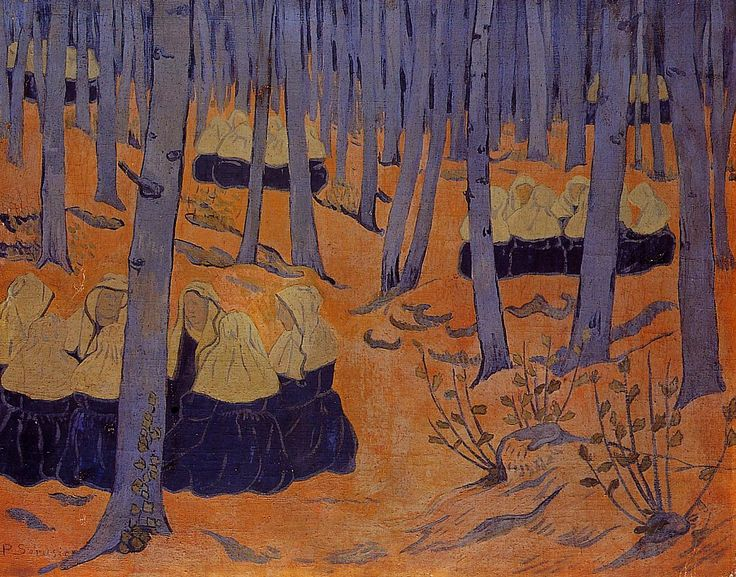Breton Women, the Meeting in the Sacred Grove by @paulserusier #synthetism