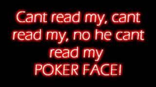 Poker Face - Lady Gaga - LYRICS!! - YouTube