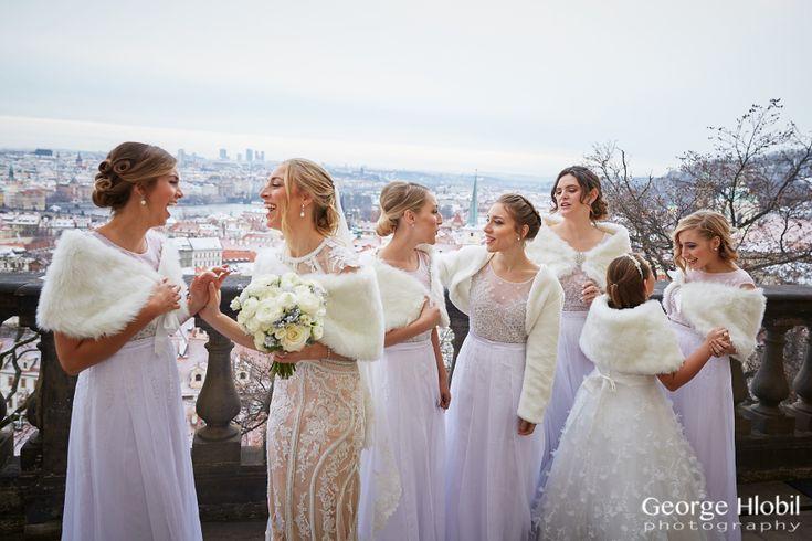 Lobkowicz palace wedding - Prague wedding in winter - Wedding pictures Prague, see more at www.georgehlobil.com #lobkowiczpalace #praguewedding #pragueviews #winterwedding #weddingphotos #destinationwedding #weddingpictures #bridalparty #pragueweddingphotographer