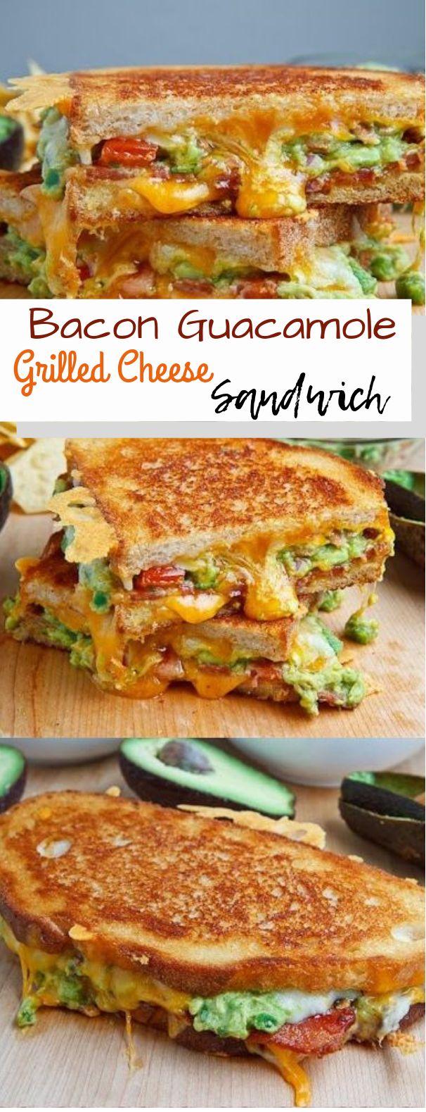Bacon Guacamole Grilled Cheese Sandwich #sandwich #deliciousrecipe