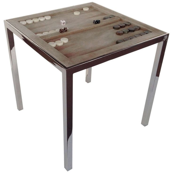 Nickel Plated Game Table designed by Milo Baughman | From a unique collection of antique and modern game tables at http://www.1stdibs.com/furniture/tables/game-tables/