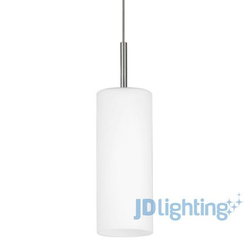 Eglo Troy 3 White Frosted Glass 1 Light Pendant - 85977