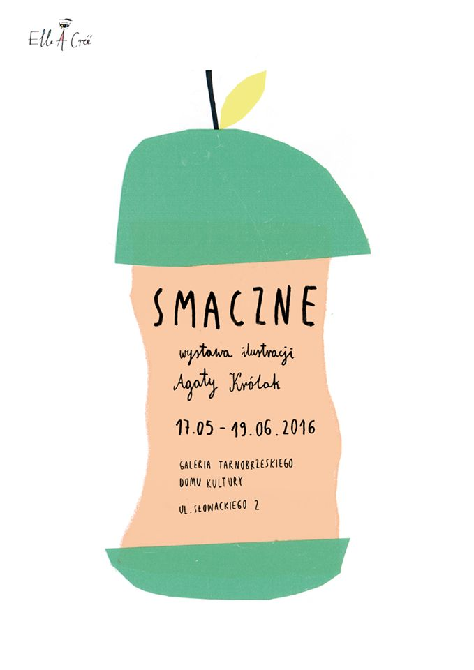 Agata Królak. Very cute event postcard design