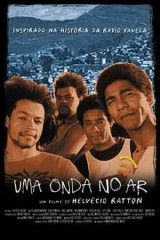 CINE(EDU)-153. Radio favela / una película de Helvécio Ratton. Brasil, 2002. Drama. A acción comeza cunha redada policial nas rúas estreitas do barrio das favelas. Mentres os traficantes foxen ou camuflan a súa mercadoría, unha radio pirata avisa os habitantes das favelas para que se protexan. O obxectivo da policía non é rematar co tráfico de drogas senón localizar e calar a voz da radio pirata, a voz da favela. http://kmelot.biblioteca.udc.es/record=b1422525~S1*gag