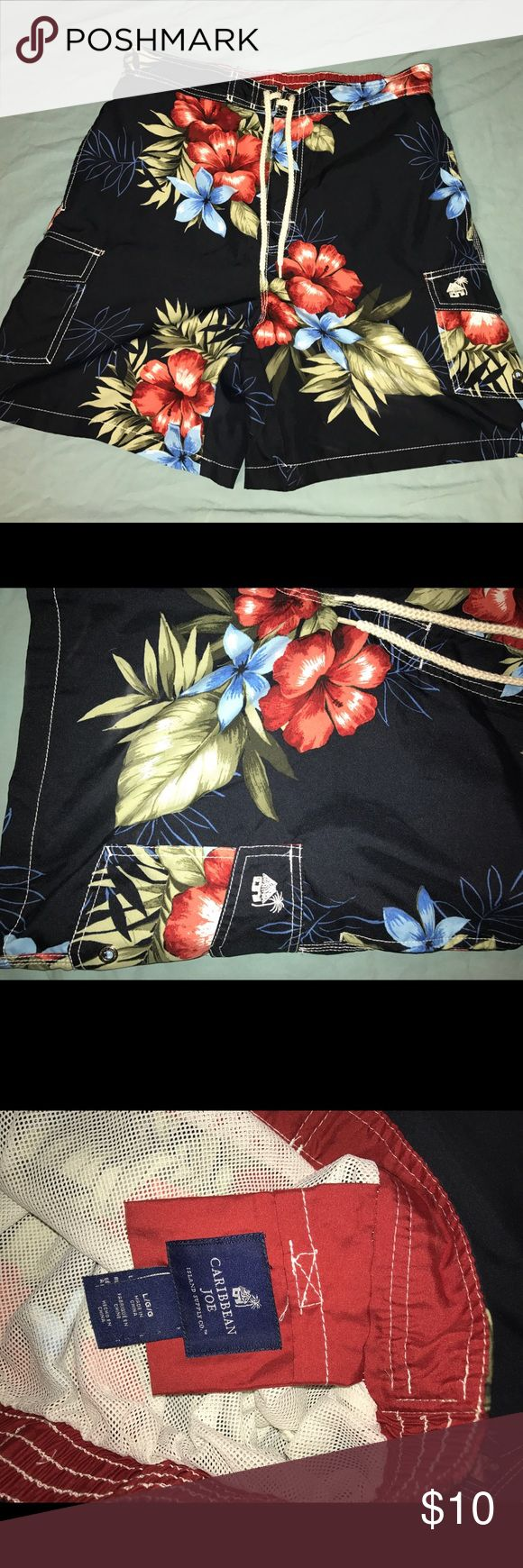 Caribbean Joe Mens Swim trunk shorts L Caribbean Joe Mens Swim trunk shorts Size large. Excellent barely used condition. No stains, damage or defect. Caribbean Joe Swim Swim Trunks