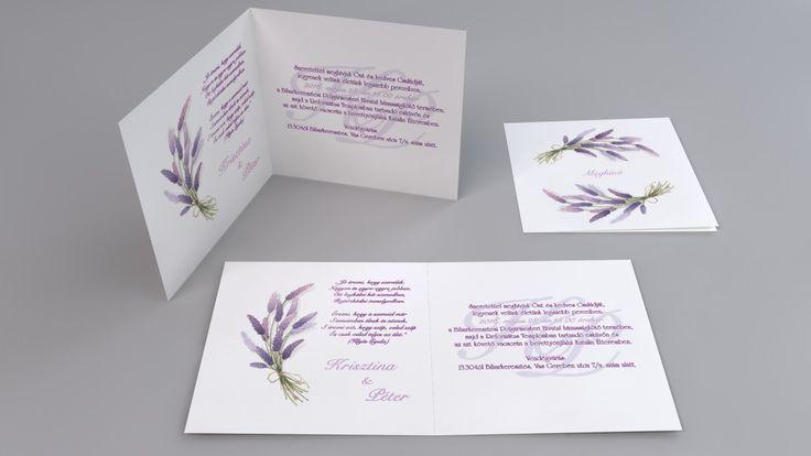 Levendulás esküvői meghívó - lavender wedding invitation