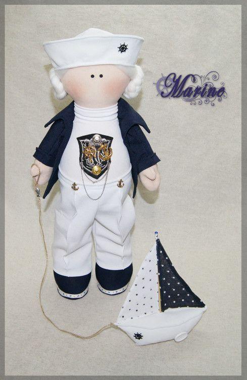 Текстильная кукла с волосами из 100% овечьей шерсти, набивка - холлофайбер.  Рост 52 см.   Textile doll with hair from 100% of sheep wool, stuffing - a hollofayber.  Height 52 cm.