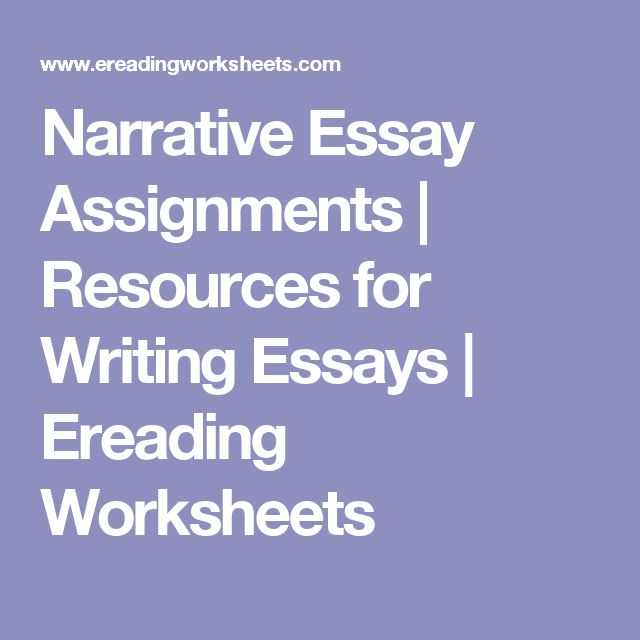 Bullying Essay Thesis Narrative Essay Assignments  Resources For Writing Essays  Ereading  Worksheets Essay Learning English also Examples Of Essay Proposals Best  Narrative Essay Ideas On Pinterest  English Writing  Proposal Essay Format