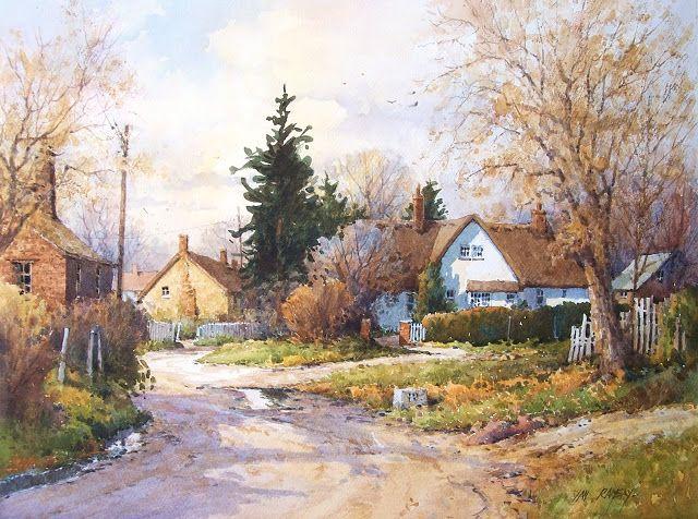 "Wivenhoe, Essex, England  watercolor  14"" x 21 1/2"" SOLD         Market Town, Dorset, England  watercolor  9"" x 12"" SOLD         Dusk, Ho..."