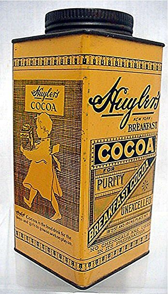 Huylers Cocoa Advertising Tin