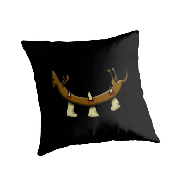 """Shock people in your home with this """"Dead Dog (spikes) design throw pillow."""