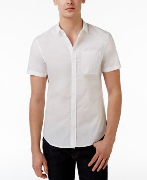 Armani Exchange Men's Cotton Shirt  - White