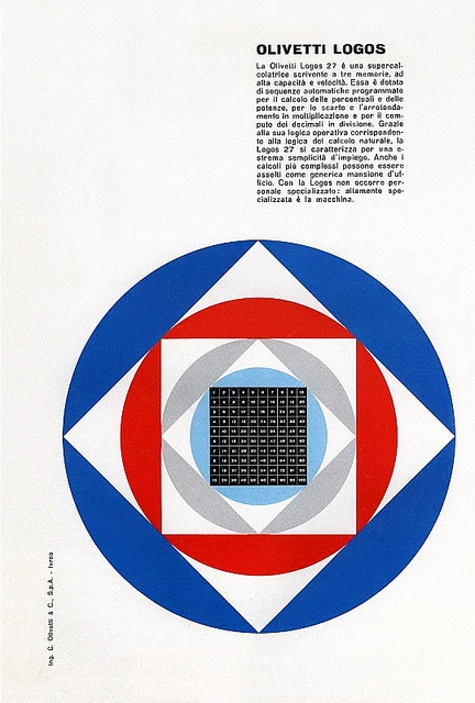 Designed by Giovanni Pintori for the Olivetti Logos