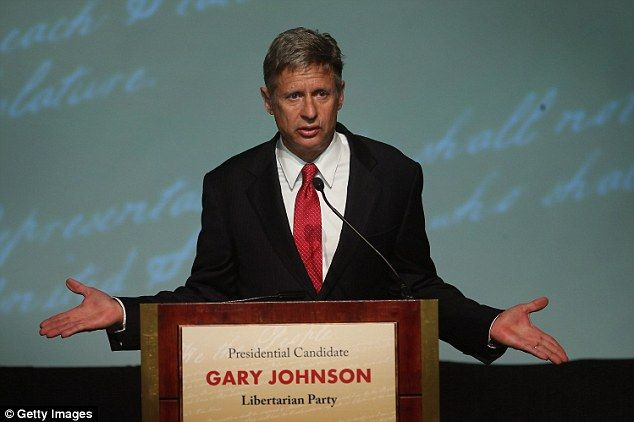 Related searches went up for Libertarian Party candidate Gary Johnson, the former New Mexico governor