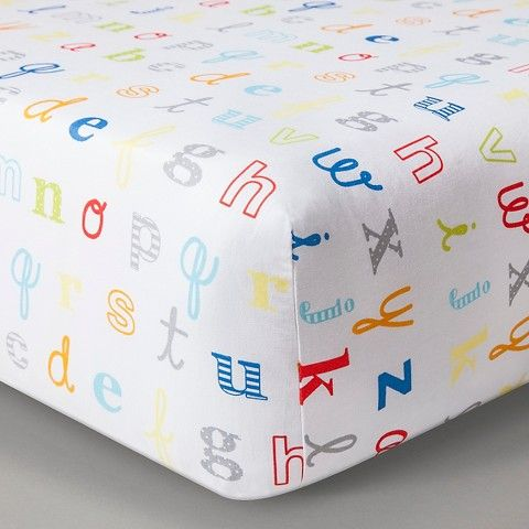 Circo™ Woven Fitted Crib Sheet - Alphabet