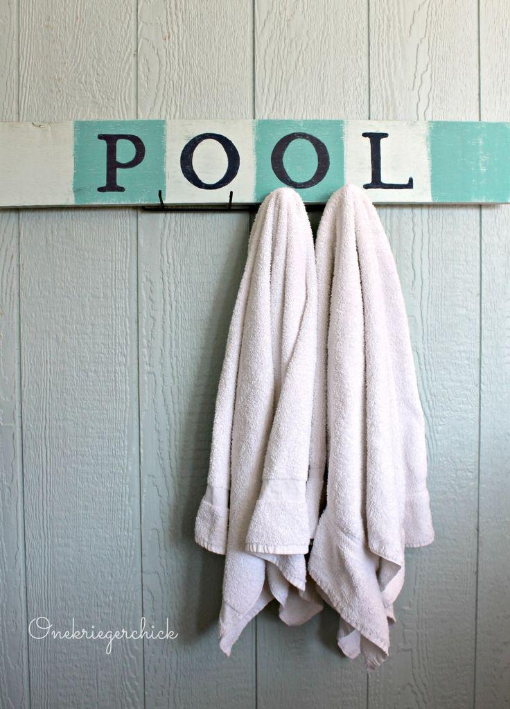 Pottery Barn Inspired Diy Pool Sign Diy Pool Pool Signs