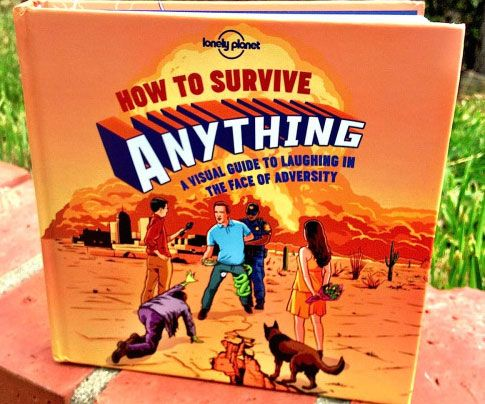 """Ensure you're ready to handle whatever life throws your way by adding the """"How To Survive Anything"""" book to your literary collection. This highly informative and entertaining read provides a visual guide on how to handle everything from small talk to a shipwreck."""