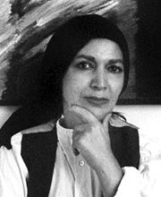 Farideh Lashai (فریده لاشایی in Persian‎ 1944 – February 24, 2013) was an Iranian painter. She was born in Rasht, Iran. She was also a writer and translator. Her foremost book is Shal Bamu. She is renowned for her abstract contemporary paintings, which are a combination of traditional and contemporary views of nature.