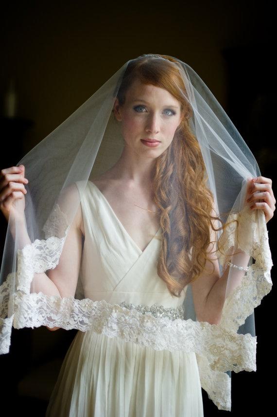 Handmade Heirloom Lace & Tulle Bridal Veil