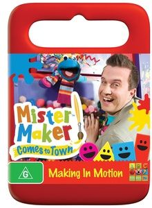 Mister Maker - Making In Motion DVD. Join in for more adventures with Mister Maker and his doodle drawers!  Join in his new series Mister Maker Comes to Town. Mister Maker takes to the road in his magical Maker Mobile in search of Mini Makers. $16.99