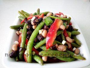 новогодний рецепт салата из трех видов фасоли  #рецепты #кулинария #новогодние_рецепты #фасоль #салат