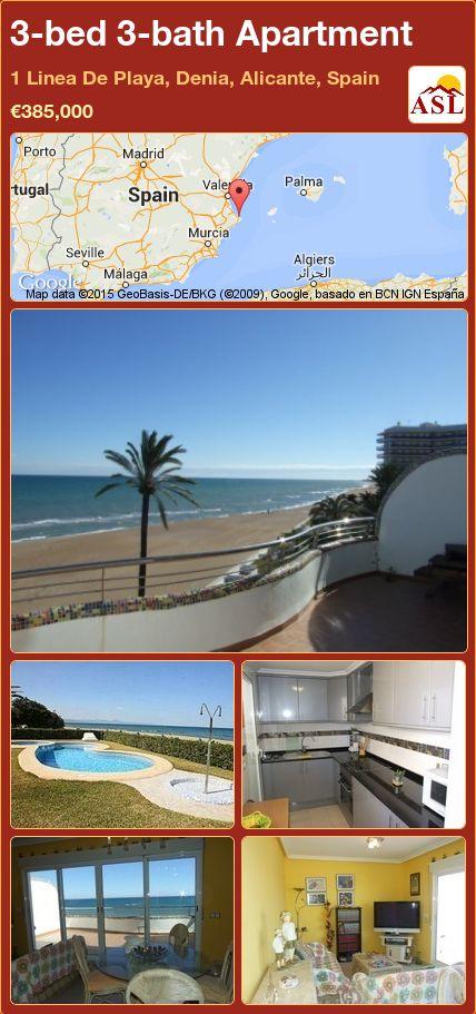 3-bed 3-bath Apartment in 1 Linea De Playa, Denia, Alicante, Spain ►€385,000 #PropertyForSaleInSpain