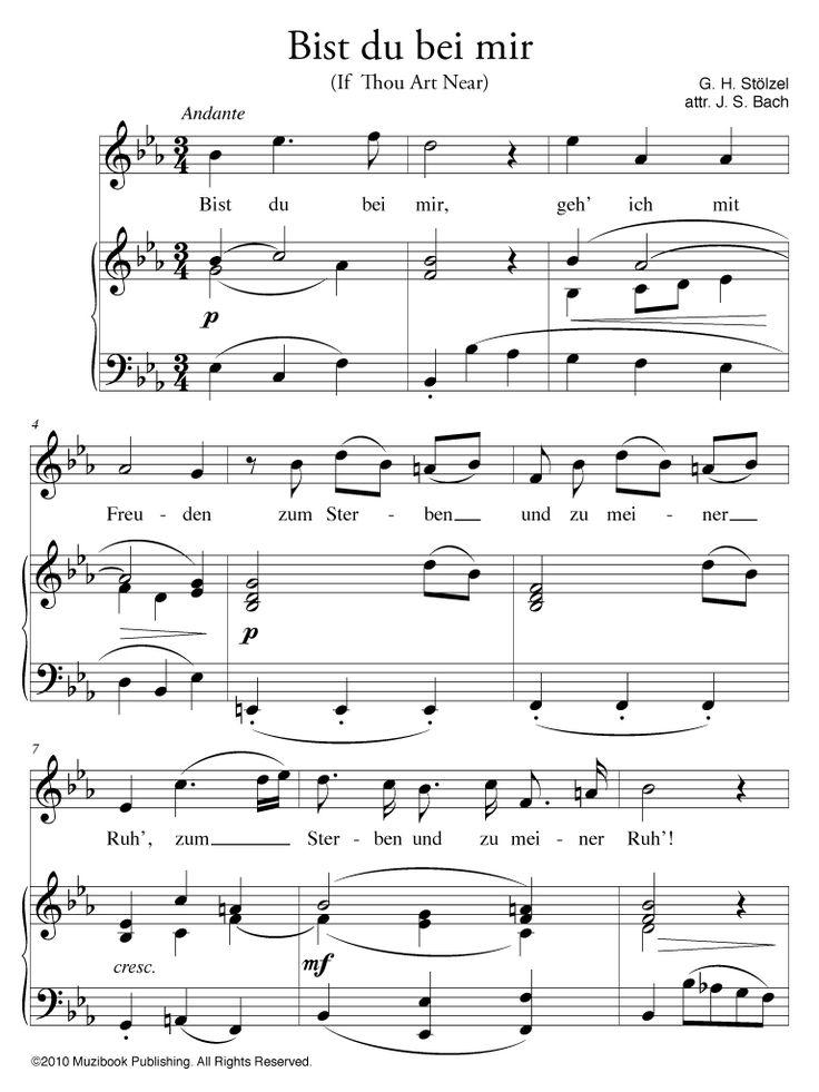 Partition iPad : Bist du bei mir - Piano et Chant, Voix Haute - De Gottfried Heinrich Stölzel et Johann Sebastian Bach (EAN13 : 9786000014445)