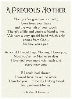 mothers day poems from daughter that will make her cry - Google Search: