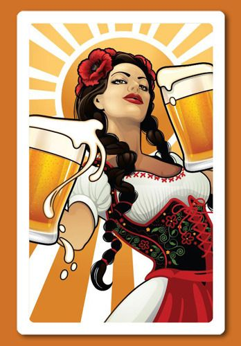 A sample piece of artwork for the proposed Barmaid deck for our new Cheapass Game, Pairs, from wonderful artist, Echo Chernik. If we get enough funding, we can have nice things! Pairs: A New Classic Pub Game by Cheapass Games  http://kck.st/1jw1f2g