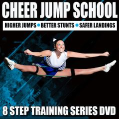 Cheerleading Jump Drills: 8 Cheer Training Segments for cheerleaders who want to improve their jumps, stunts, and tumbling. Use the coupon code PINIT15 for 15% off cheerleading equipment.