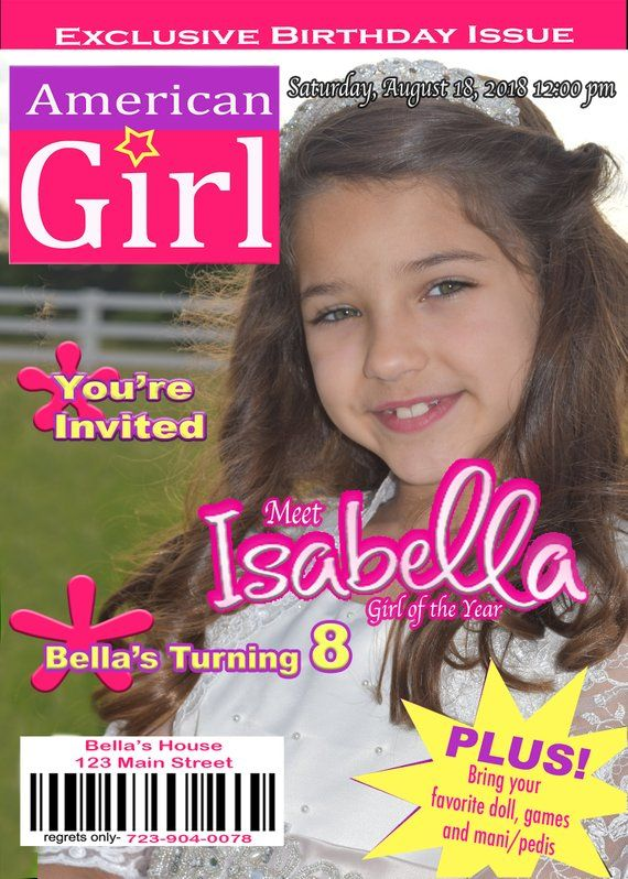 American Girl Invitation In 2018 Parties Pinterest Invitations
