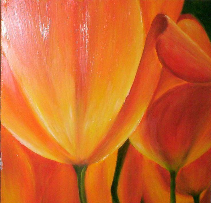 tulipan 1, oleo