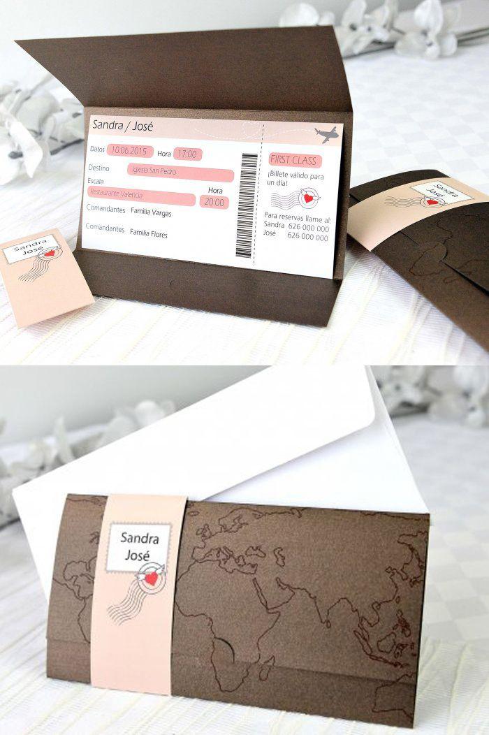 Invitaciones de boda originales Mas ideas y posibilidades en http://delpozo.es