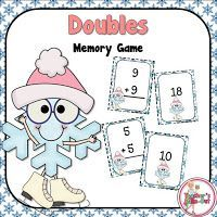 FREE addition doubles for a memory match game