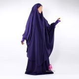 Two piece French-Algerian style jilbab with built-in mitts by AlMoultazimoun