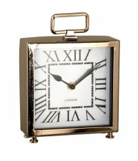 Sil Silver Metal Mantel Carriage Clock 20 X 15cm Contemporary design yet sophisticated style, this mantel clock will look at home on any shelf or desk Features clean lines and clear Roman numerals Finished with a high shine, it will enhance your mantel, desk or shelf Requires 1 x AA battery, although not included Stands approximately 16cm high x 15cm wide x 5.5cm deep