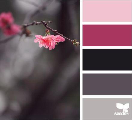 colores fríos e intensos con un contraste