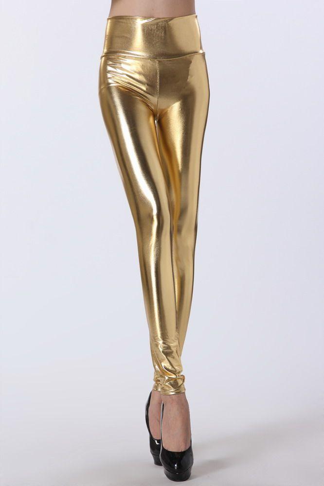 Gold High Waist Leggings