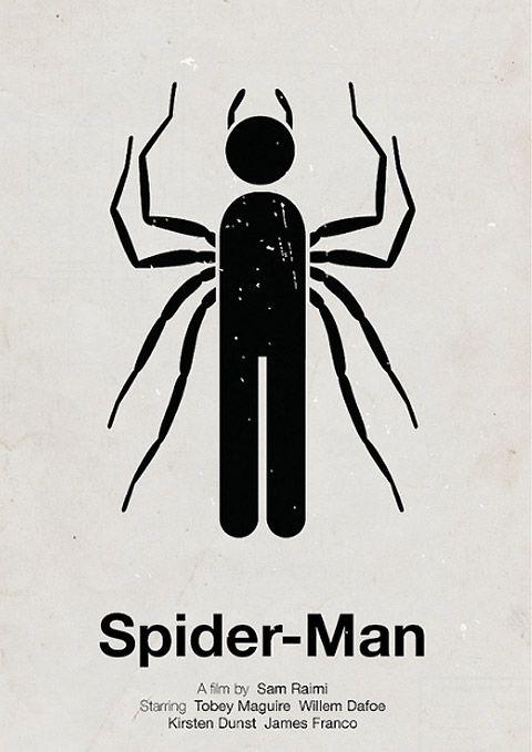 Spider man pictogramme poster Victor Hertz