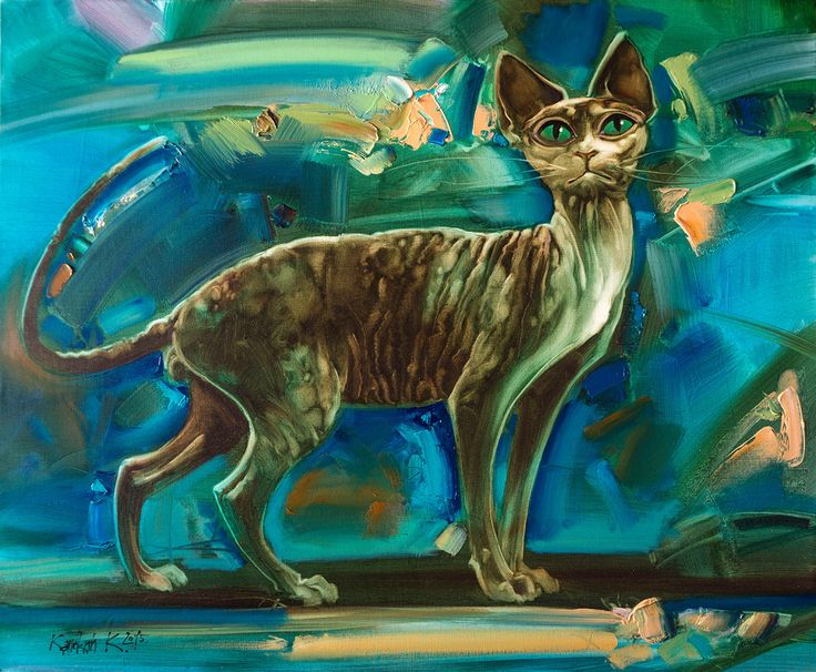Котик сфинкс,живопись