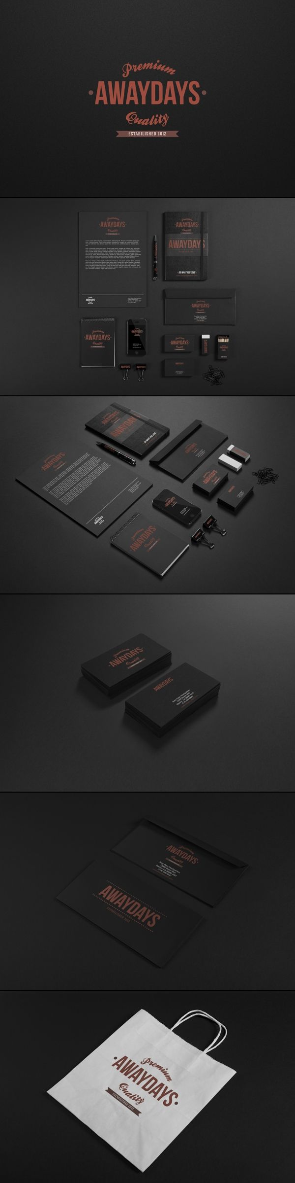 Away Days Branding Identity | #stationary #corporate #design #corporatedesign #identity #branding #marketing < repinned by www.BlickeDeeler.de | Take a look at www.LogoGestaltung-Hamburg.de