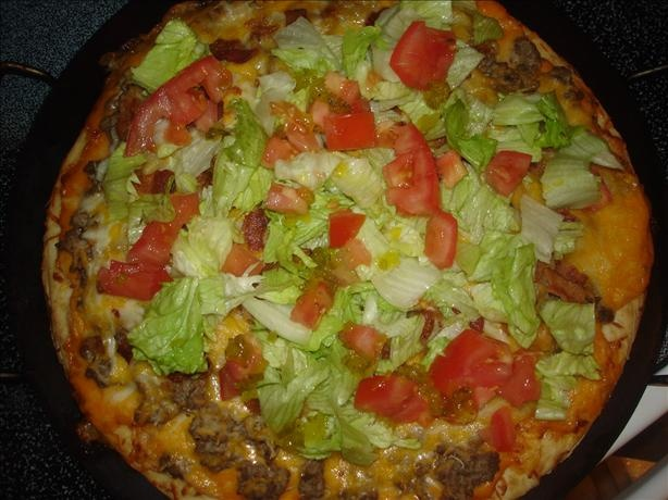 """""""Big Mac"""" Pizza (when I do eat pizza- this is it! soo good!)"""