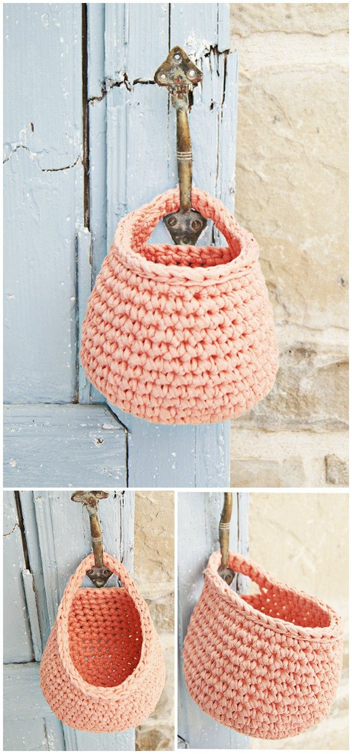 I have rounded up some of the best and interesting free #crochet #decor patterns for your home.Crochet Hanging Basket