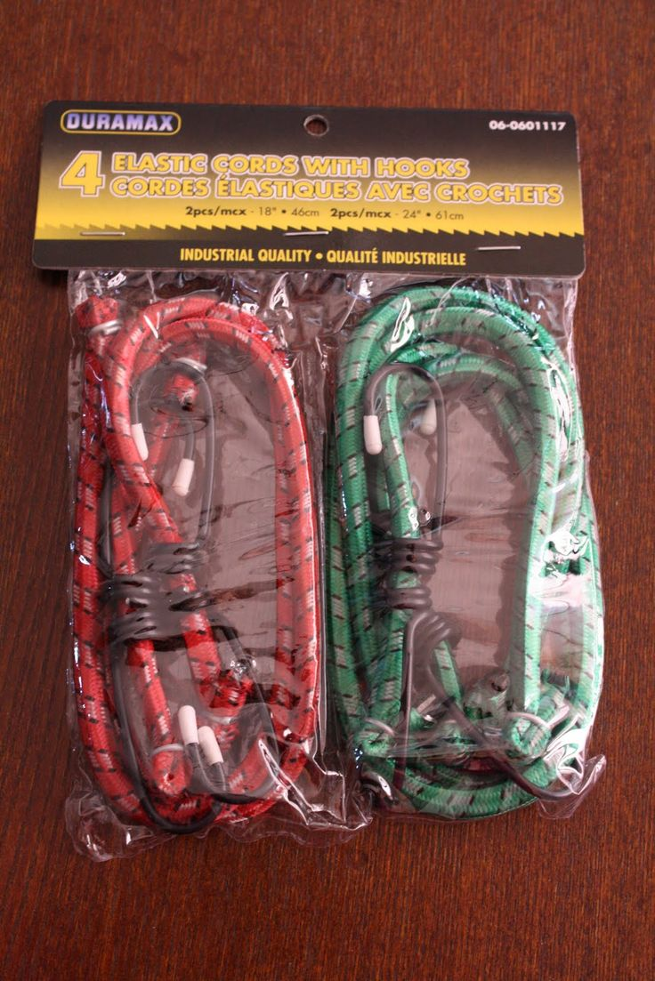 Bungee cords for older boys boxes - Operation Christmas Child ~ we did these & also fishing supplies, tools, and string/twine