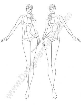 Costume Design Template Fidm